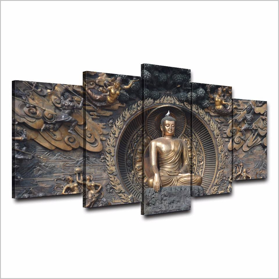 Religious Buddhist decor prints pictures buddha wall hanging art canvas paintings