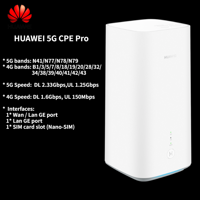 2020 New 5G WiFi Router with SIM Card Slot Home Wireless Router Huawei 5G CPE Pro H112-372