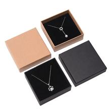 spot goods jewelry box heaven and earth cover necklace box kraft packing box custom