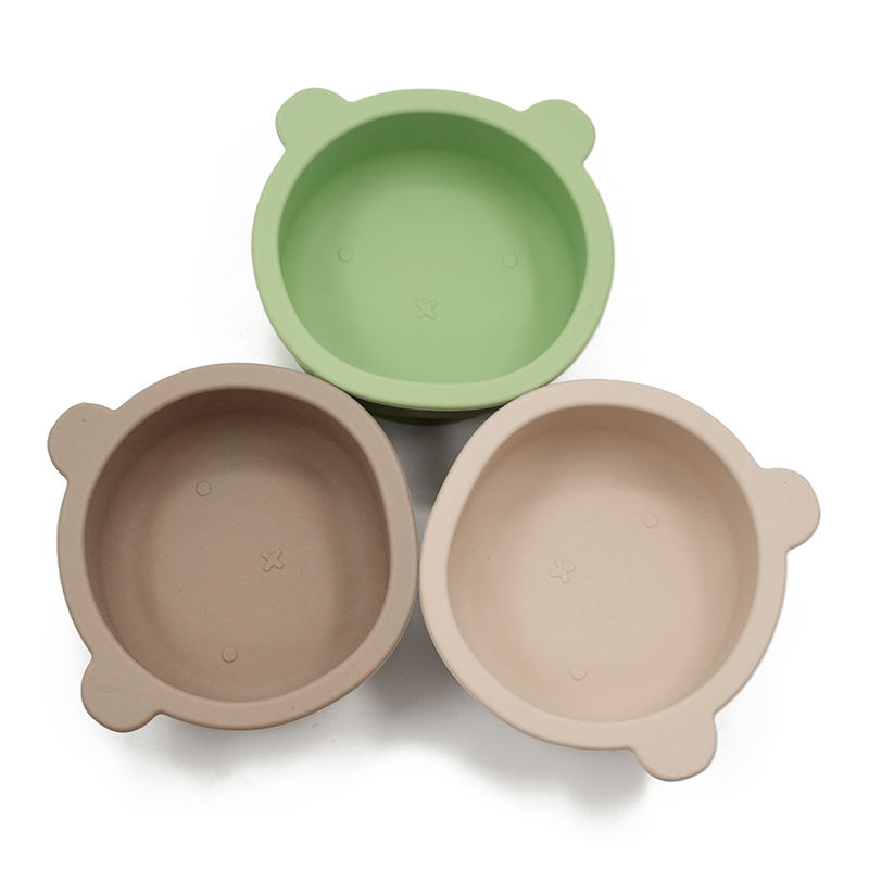 New Arrival BPA Free Food Grade Bear Shape Eco-friendly Silicone Baby Bowl