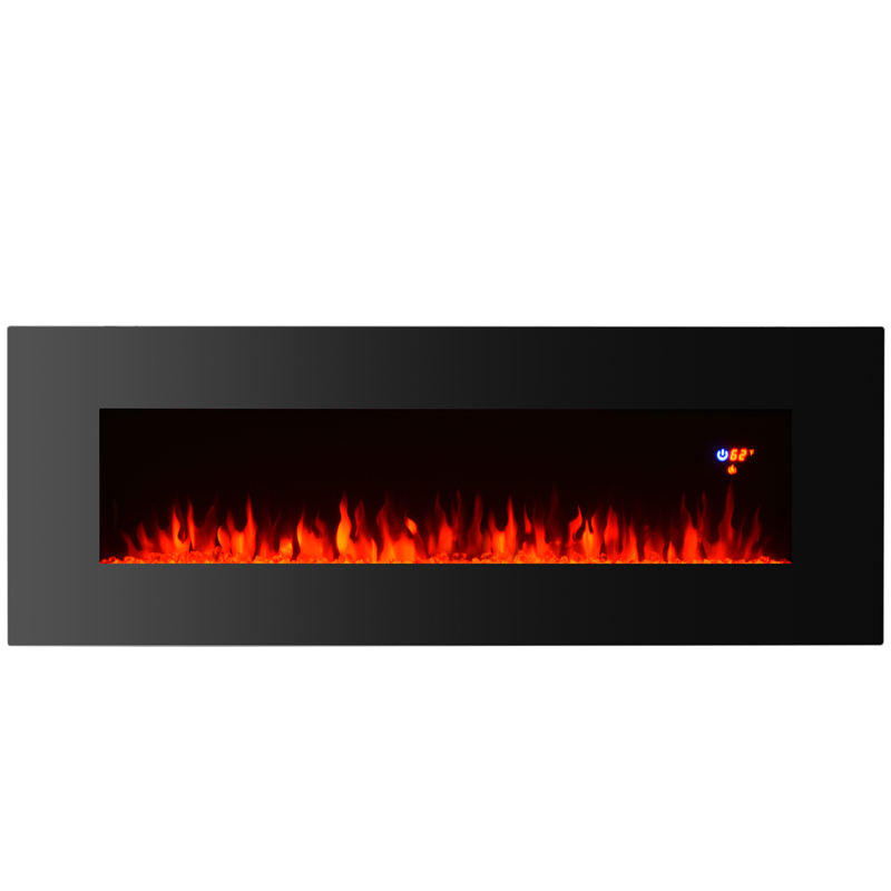 "50"" cheap Wall mounted Electric Fireplace with led light heater"