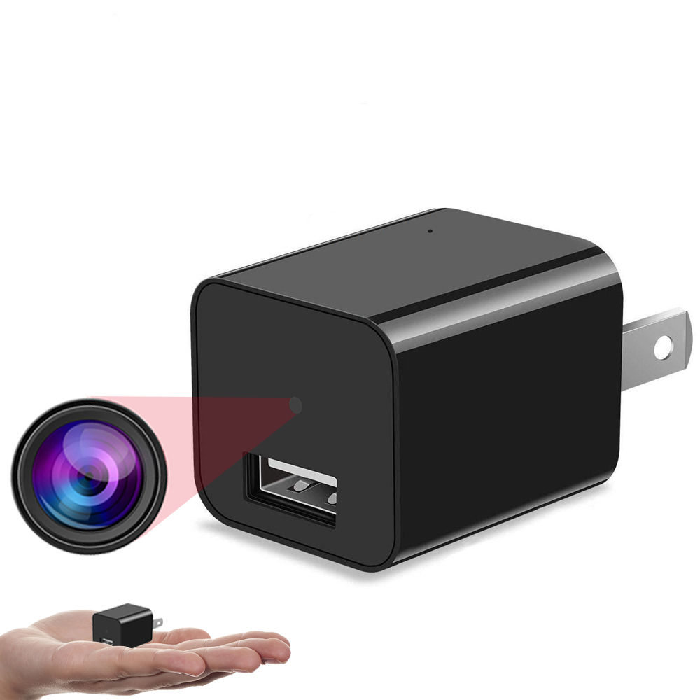 Invisible Mini HD 1080P Spy Hidden WIFI USB Plug Wall Charger Camera