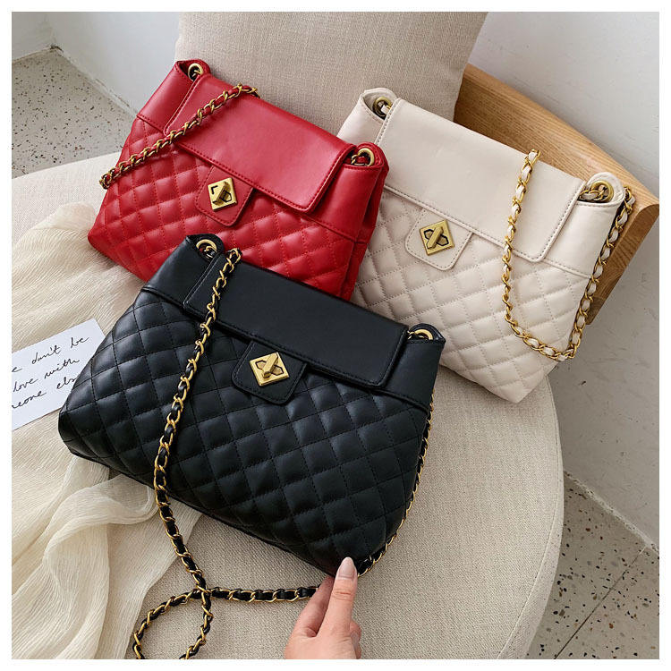 2019 High Quality Fashion Korea Bags Young Lady Women Big Handbags Chain Leather Tote Bag