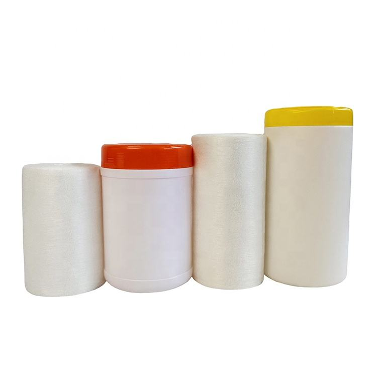 gentle soft biodegradable test bamboo dry wipe, cleaning dry wipe with container/barrel holding