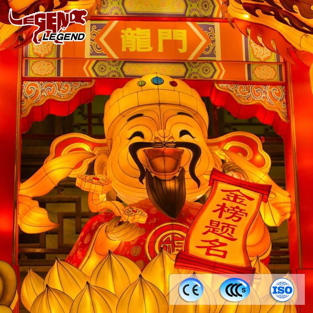 Traditionele Chinese Thema Lucky Pop Lantaarn Voor Pretpark