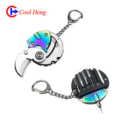 Wholesale Portable Multifunction Key Pendant EDC Tool Outdoor Survival Mini Pocket Coin knife with screwdriver