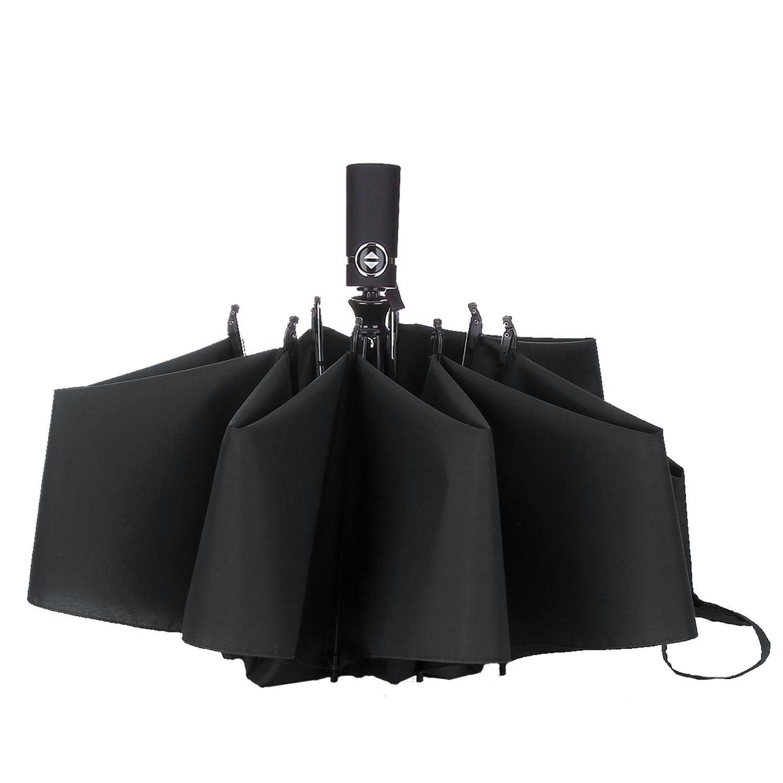 Custom Sea Wave Compact Travel Windproof Rainproof Foldable Umbrella