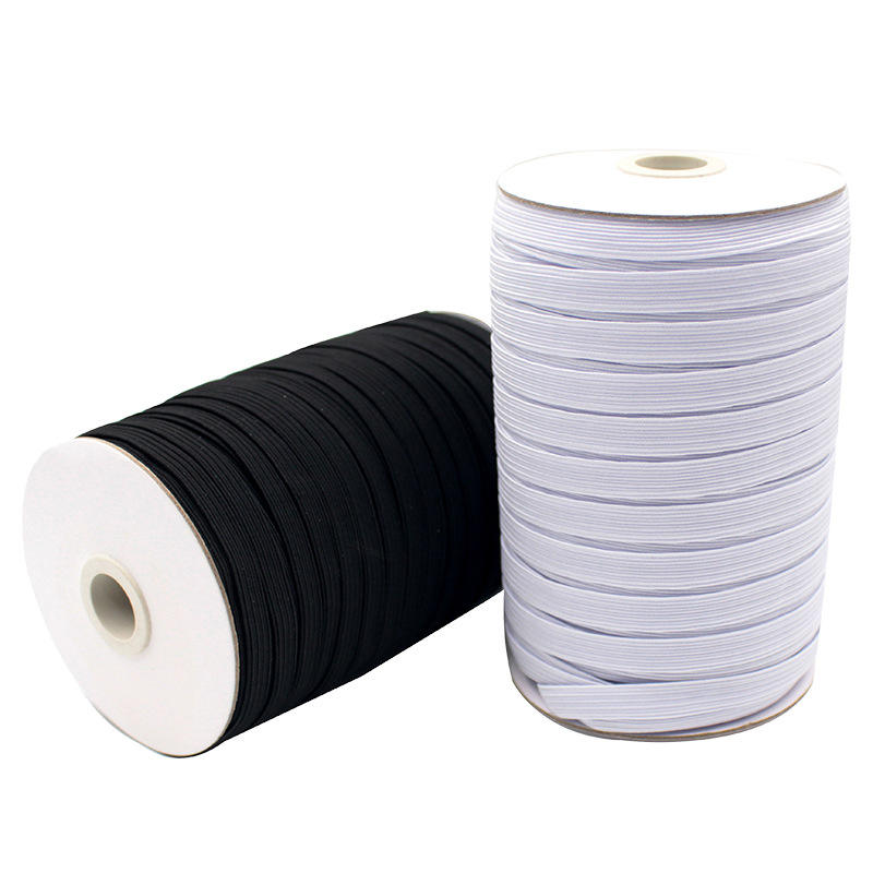 Hot sale flat 1/4 1/8 inch elastic band webbing tape elastic 3 mm 1/4 sewing threads