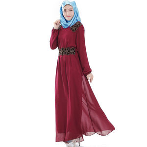 New design autumn casual long sleeve for women muslim dress weddings winter coat made in China