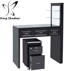 King shadow beauty latest fashion nail salon manicure table nail bar tables