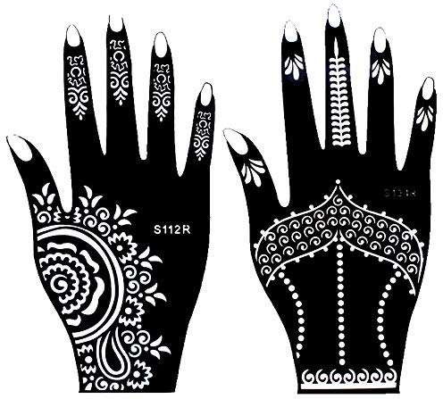 OEM Henna Tattoo Stencils For Wholesale, Gorgeous Women's Sexy Body Art Black Henna Lace Hands Tattoo Sticker