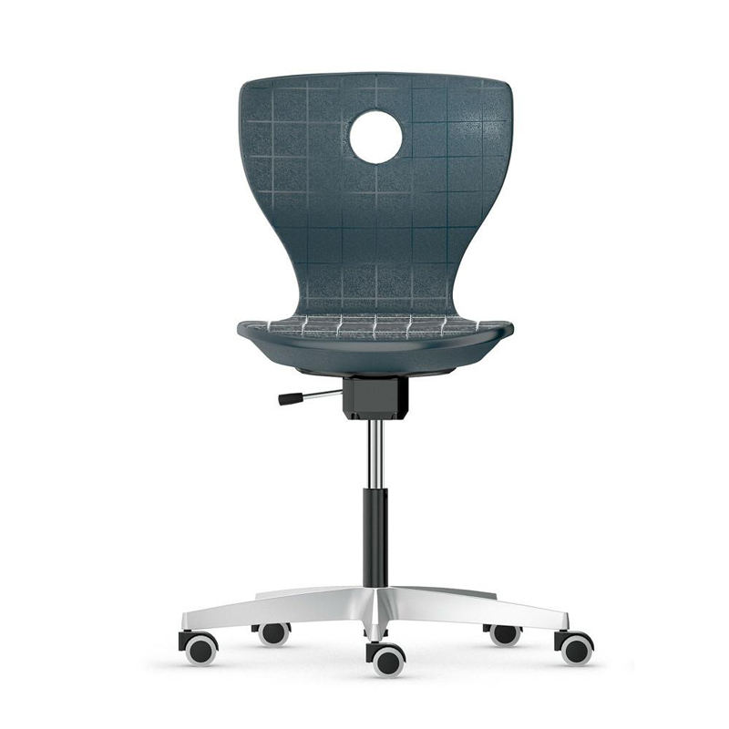 plastic seat board chair with wheels home computer chair height adjustable