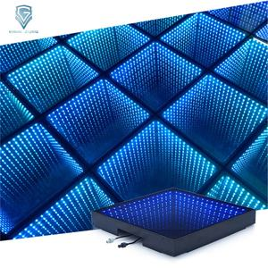 Latest Wired Tempered Glass Portable Infinity Mirror 3D LED Dance Floor
