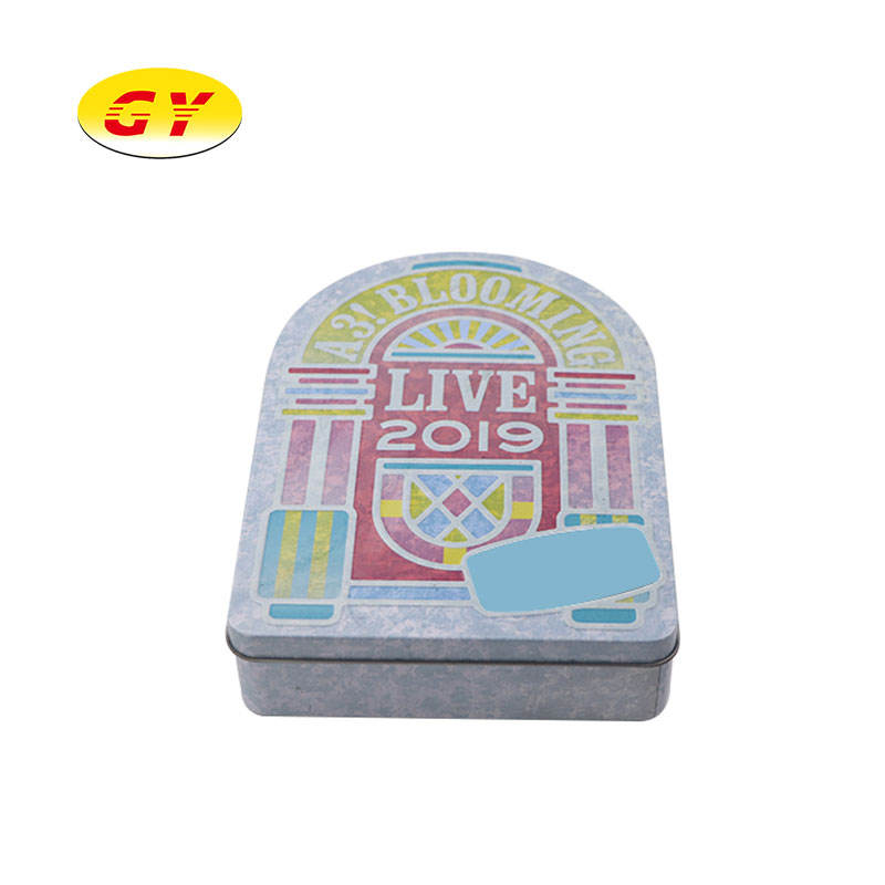 High quantity wholesale special shape CD case tin packaging