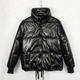 Ladies' Fashion Winter Shiny Quilted Puffer Jacket Padded Bubble Bomber Jackets Wholesale