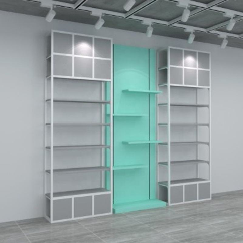 miniso style shelf for retail store goods display