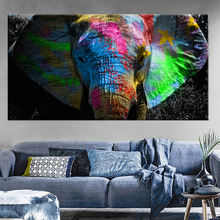 Africa Elephant Animal Pop Art Poster Picture wall art paintings prints abstract
