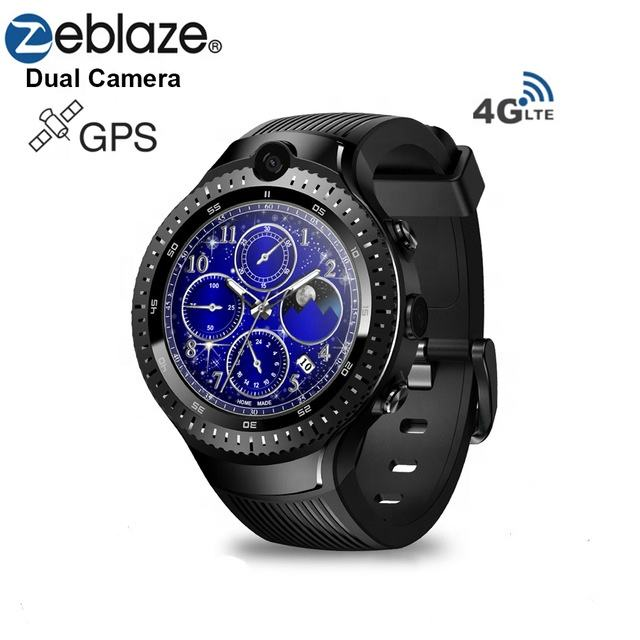 Zeblaze THOR 4 Dual android smart watch MTK6737 4G LTE 16gb large memory bluetooth sport phone watch