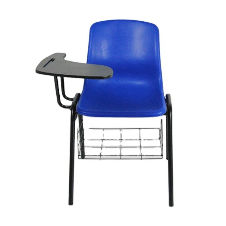 metal stackable modern plastic desk chairs training room children student office school chairs with writing pad tablet