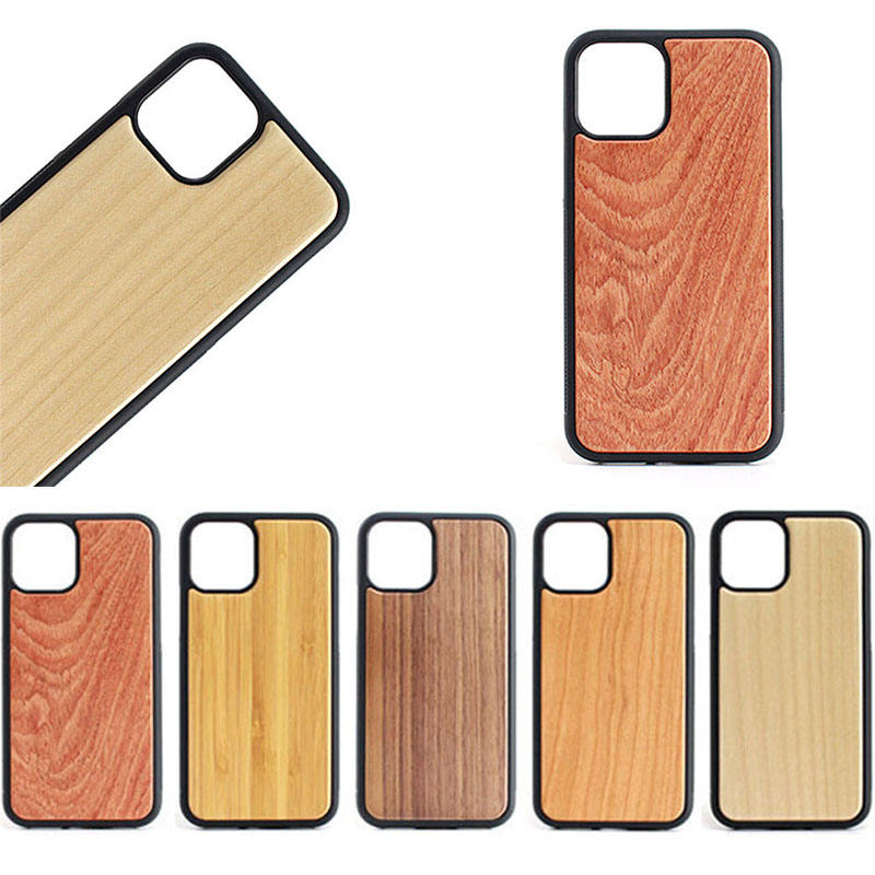 OME Logo or Pattern Natural Blank Wood Phone Case for iPhone SE 2 6 7 8 X XR XS Max, For iPhone 11 Pro Max Mobile Wood Case