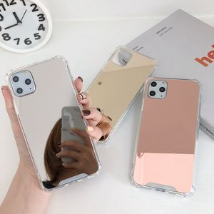 2020 New Fashion for iPhone 11 Girls Case Phone Cover Plated Makeup Mirror Design 8 7 6 Plus Xs Max Original Cases for Women