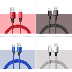 wholesale factory nylon braided fast charging charger data usb charger cable for iphone