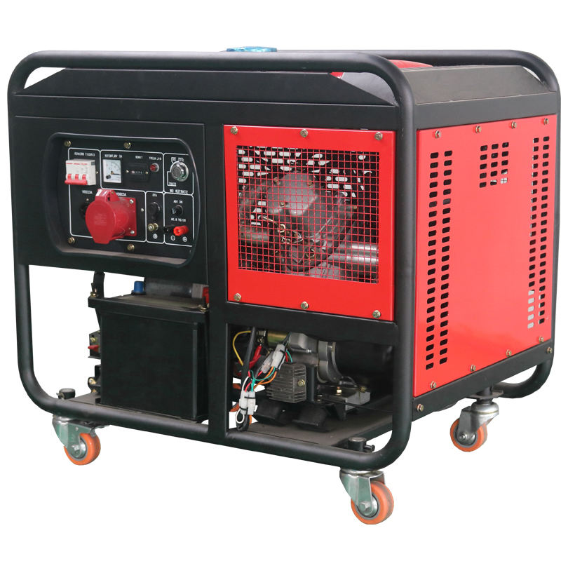 12kva 400V 3 phase soundproof V type diesel generator with 2V88 engine