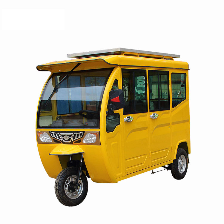 Newest Three Wheel Passenger Tricycles Electric for Adults for Sale Motorized Solar Electric Tricycles