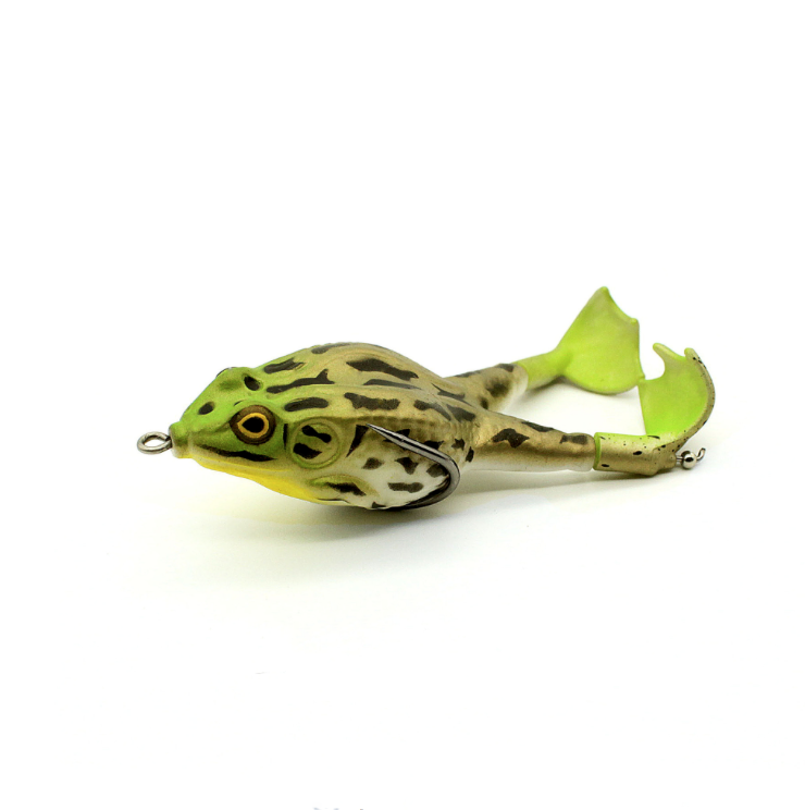 0.49OZ .12.7g.90mm Rotating legs thunder frog fishing lure 9cm/13.7g floating bionic soft lure carp fishing lure