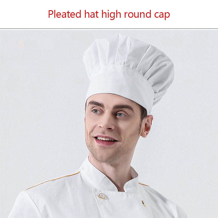 Chef Hat Baker Kitchen Cook Restaurants Catering Cap Men Women Black Red flat cap high school low chef hat work hat mushroom