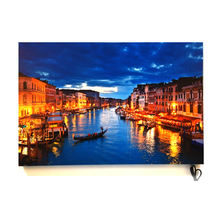 Wall Art Decoration Venice landscape  Battery LED Light Painting