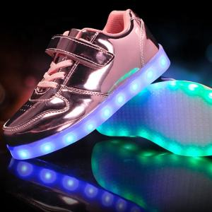 Sequined solid color rechargeable luminous dance shoes children led mixed shoes kids shoes led light