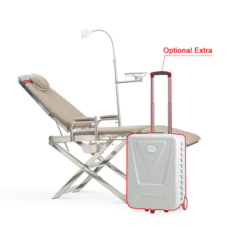 China Manufacturers Folding Surgical In-Office LED Operation Table Unit Light Prices Portable Dental Chair