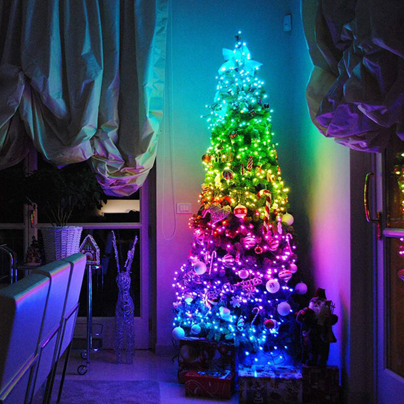 Christmas Tree Decoration LED Lights Smart Personalized String Lights Customized App Remote Control Lights