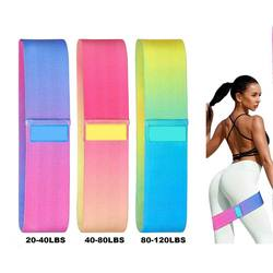 Fabric Cotton Sports Equipment Fitness Gym Workout 2020 Hip Gradient Resistance Bands