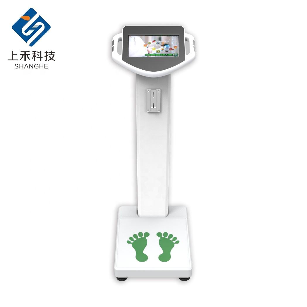 SH-100T Smart connected color hd LCD touch screen can play video advertising electronic luggage scale