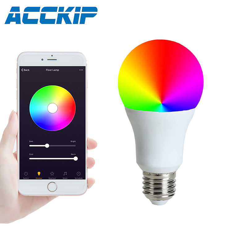 ACCKIP Smart Light Bulb Yee Light Coloured E27 Android Party Smart LED Bulb