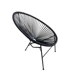 Outdoor Oval Lounge Patio Stuhl Wicker Sonne Stuhl Rattan Ei Stuhl