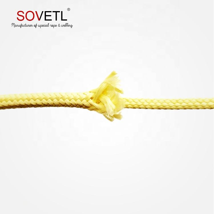 Hign tenacity braid 6mm aramid rope
