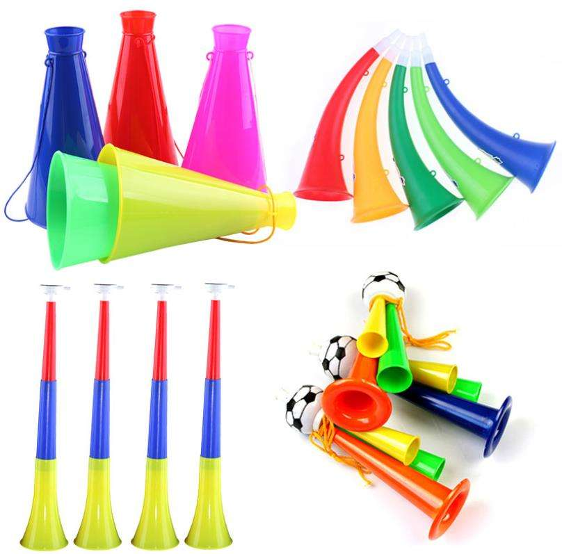 GBIY-344 Football game toys air horns party favors for sale sports mini cheering blow fan horn plastic trumpet with nation flag