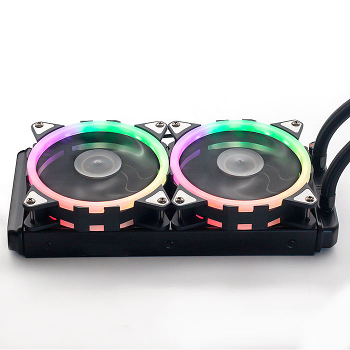Whosesale Warna-warni 2400 Cair dengan 12025 RGB Kas Heatsink DIY 240 Kit 250 W Air Cooling Fan