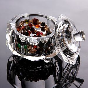 Octagon Glass Crystal jewelry trinket boxes MH-QT0278