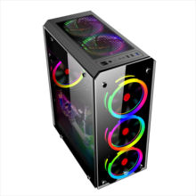 atx pc oem all in one custom carbon fiber with fan display dustproof glass towers Case gaming pc casing