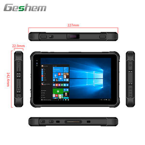 8 inch rugged tablet pc win 10 with NFC barcode scanner fingerprint 1000 nits