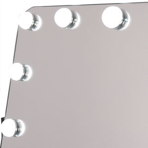 Touch Control Design 360 Rotation Lighted Hollywood Style Makeup Vanity Mirror With Lights