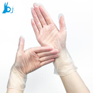 Disposable vinyl medical plastic hand gloves
