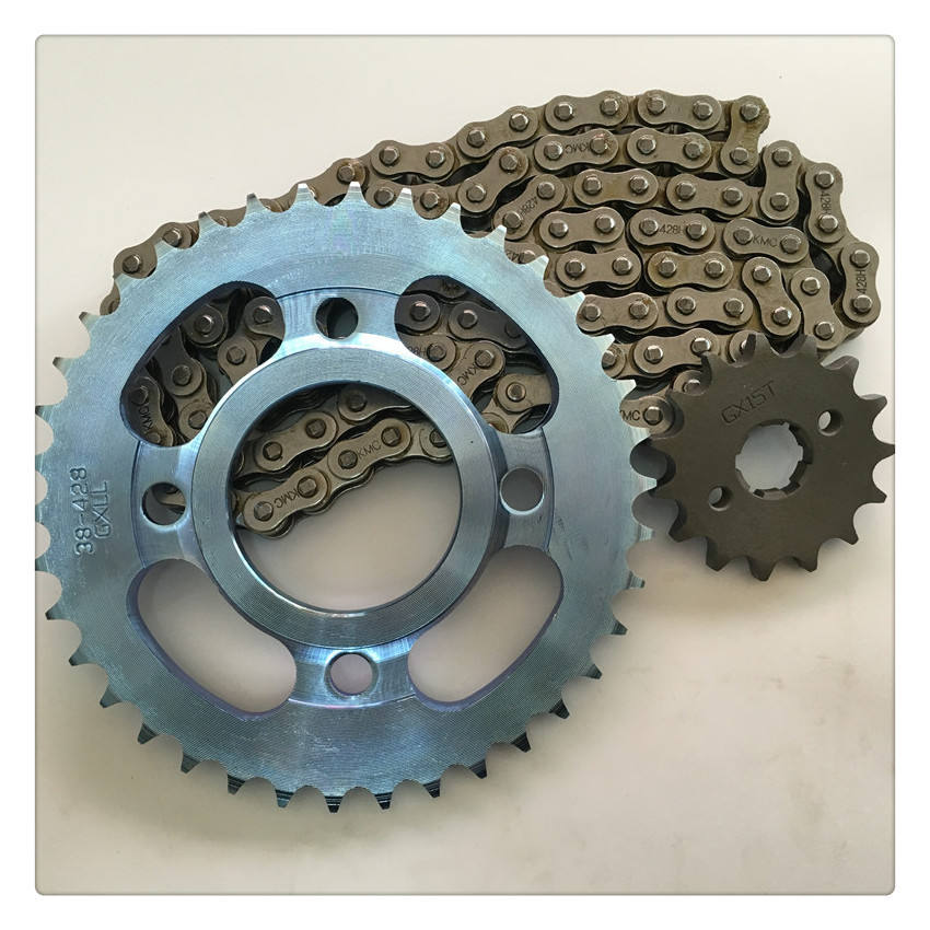 made in china parts of motorcycle brake shoe chain and sprocket bearing hub cover front fender handle bar for sale