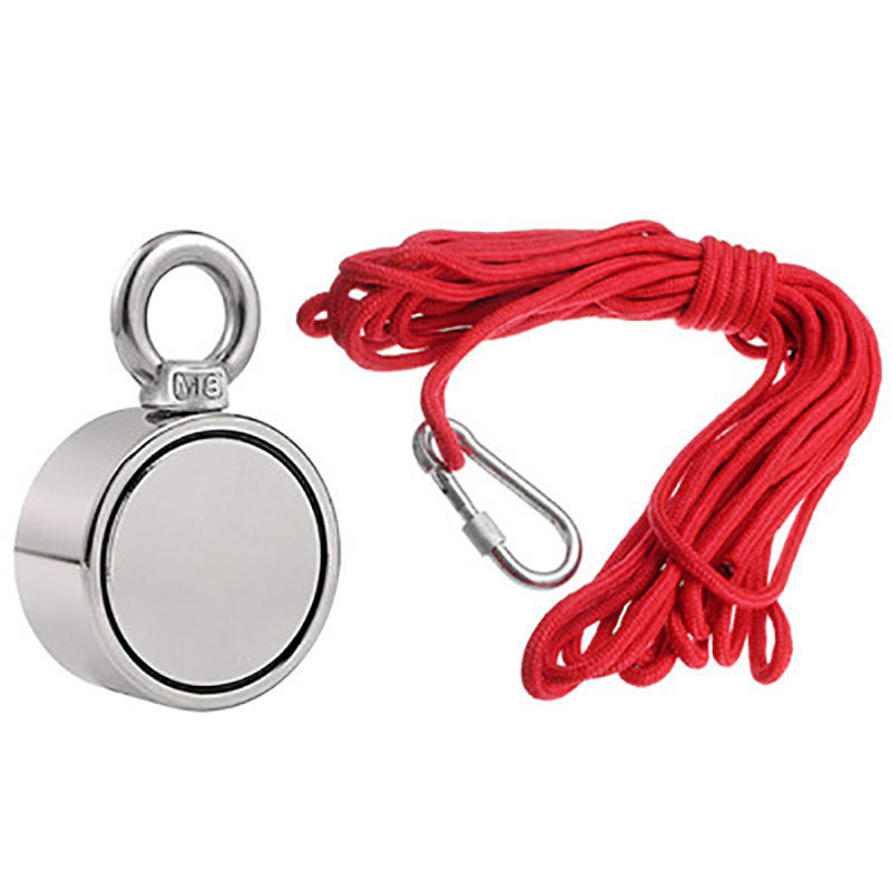 500kg Pull Force Neodymium Fishing Magnet With Rope