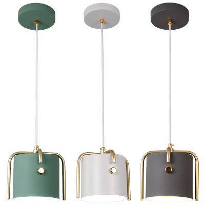 2020 Nordic modern leather E27 hanging light interface table dining table kitchen pendant light multicolor