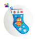 2020 New Style Christmas Owl Stocking Sewing Kits Home Interior Decoration 3 Size One Set